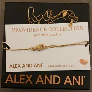 Alex & Ani Seahorse Pull Chain Necklace Gold Pld